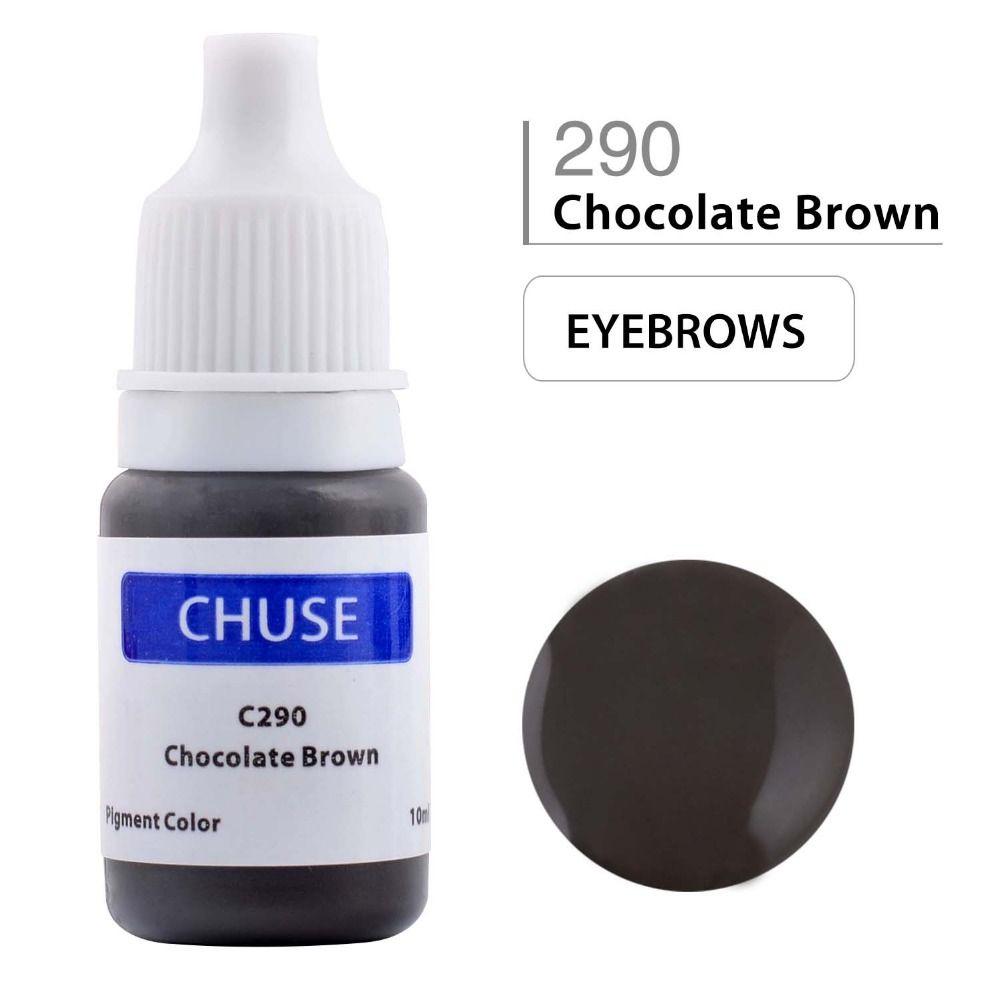 CHUSE maquillage Permanent Encre Eyeliner tatouage Encre Set sourcil Microblading Pigment professionnel Encre A Levre 10 ML chocolat brun
