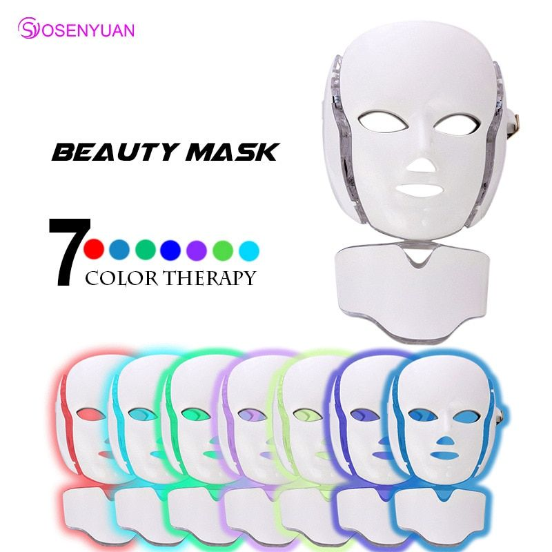 LED Facial Mask Electric Face Masks Energy Therapy Lamp Led Phototherapy Acne Remover Wrinkle Removal Anti Aging Beauty Machine