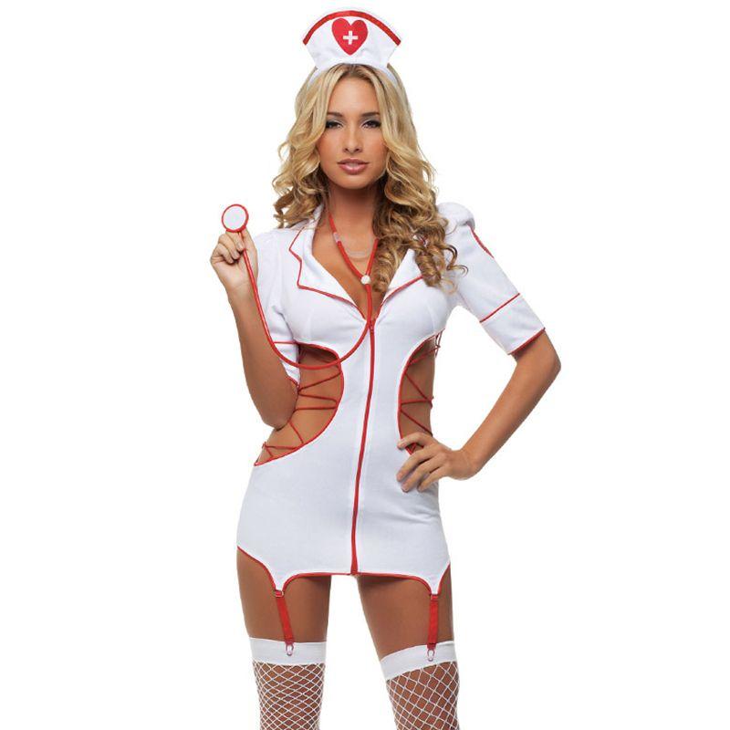 2018 femmes Sexy infirmière Costume chaud sous-vêtements érotiques jeux de rôle femmes érotique Lingerie femme Sexy sous-vêtements lenceria uniforme
