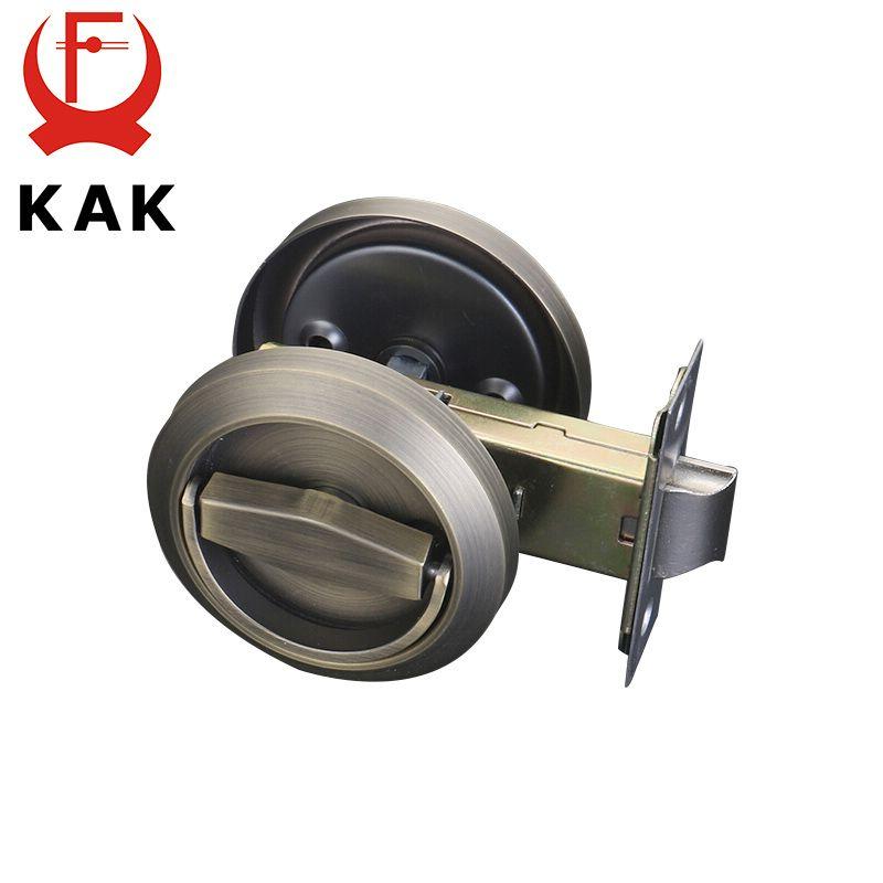 KAK serrures de porte cachées poignée en acier inoxydable armoire encastrée traction Invisible serrure extérieure mécanique pour matériel anti-feu