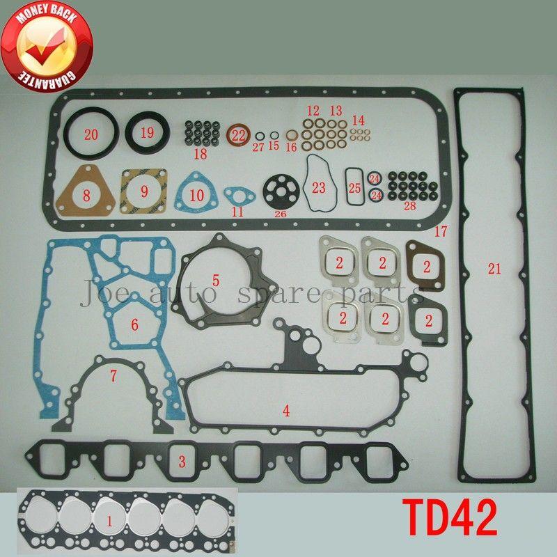 TD42 Engine Full gasket set kit for Nissan Patrol GQ Y60 4.2L 1988-1997 10101-VB285 51028400 10101VB285
