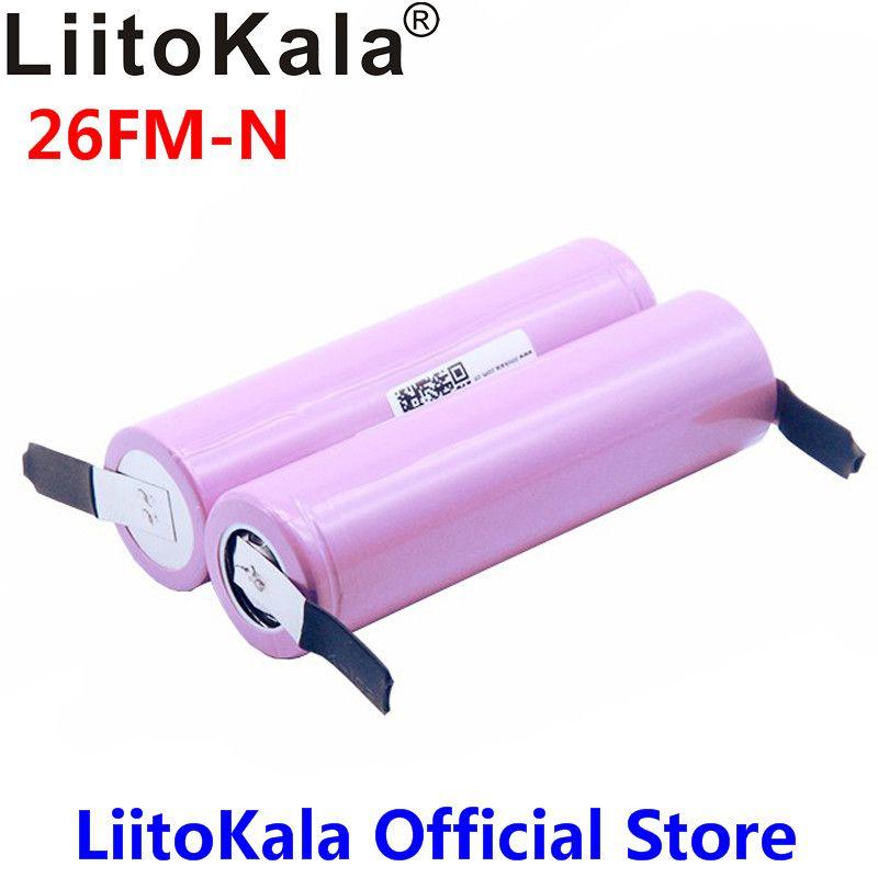 Neue 100% Original Liitokala 18650 2600 mah batterie ICR18650-26FM Li-Ion 3,7 v akku + DIY Nickel blatt