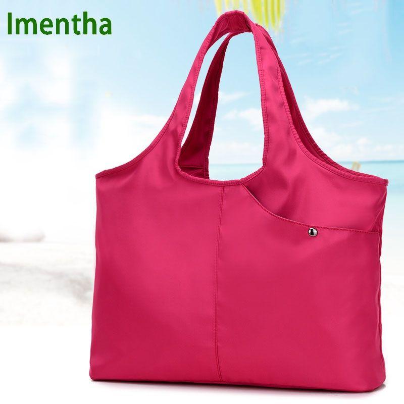 Sac à main pour femme sacs à poignée supérieure sacs fourre-tout en nylon pour femme sacs à main et sacs à main Hobos shopping sacs à main de plage