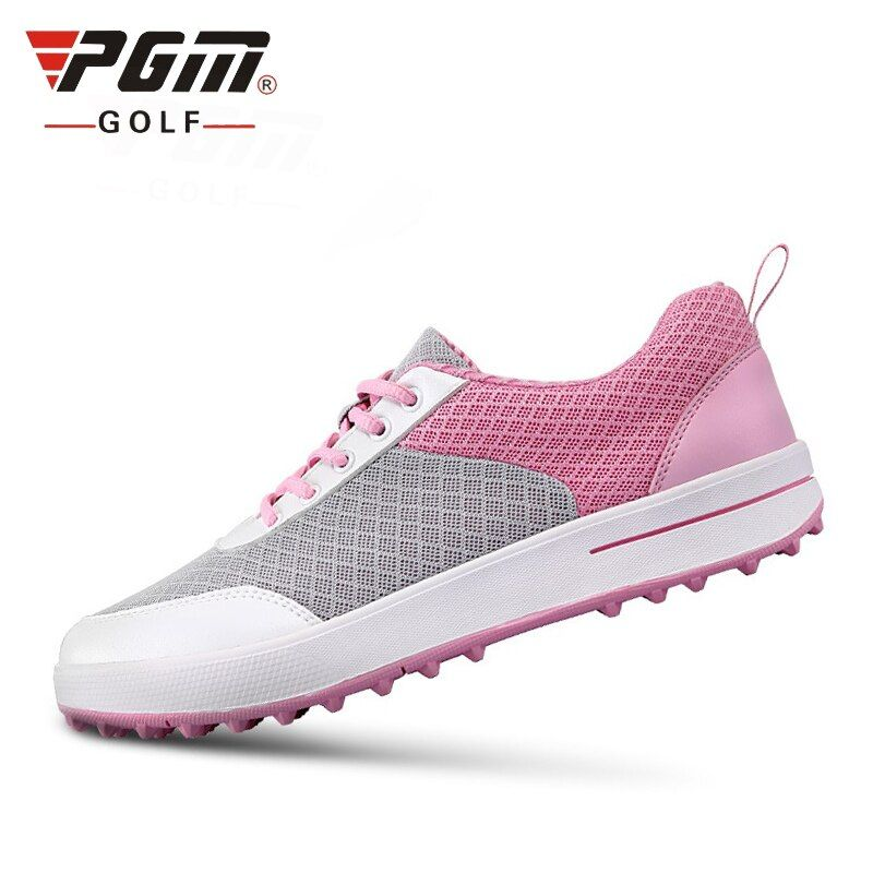 Authentic PGM Golf Shoes Women Ultra-Light Breathable Mesh Women Sports Shoes Non-Slip Girls Golf Shoes B2855
