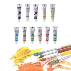 12 Couleur Acrylique Peinture Ensemble 12 ml Tubes Artiste Dessiner la Peinture Pigment Art Fournir G12 Drop ship