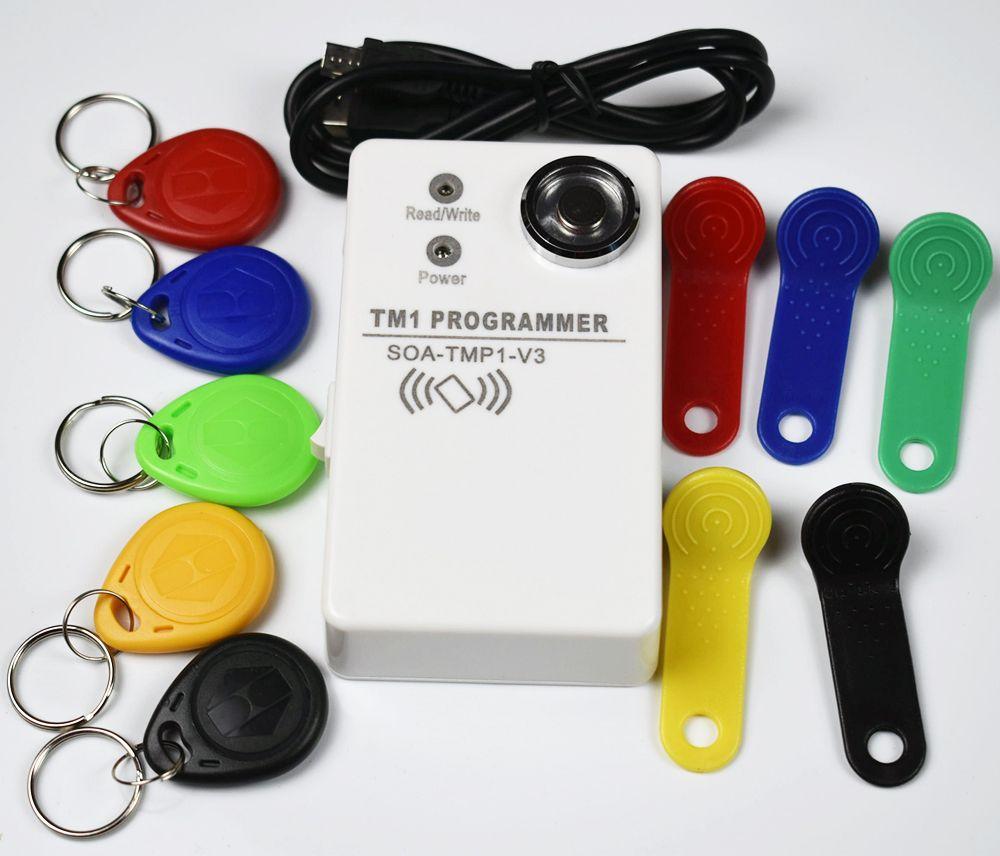 TM RFID Copier Duplicator handheld RW1990 TM1990 TM1990B ibutton DS-1990A I-Button 125KHz EM4305 T5577 EM4100 TM card Reader