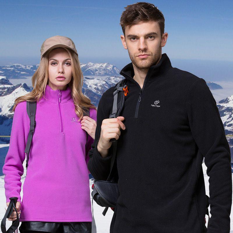 Hommes femmes hiver polaire Softshell veste Sports de plein air Tectop manteaux randonnée Camping ski Trekking mâle femme vestes VA081
