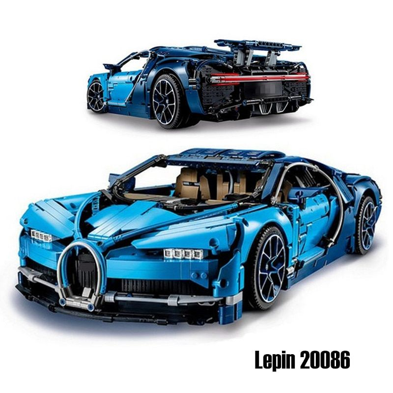 Lepin 20086 20001 diy Bugattied Super Car Chiron Racing Car Building Blocks Bricks Toys Compatible Legoingly Technic 42083 42056