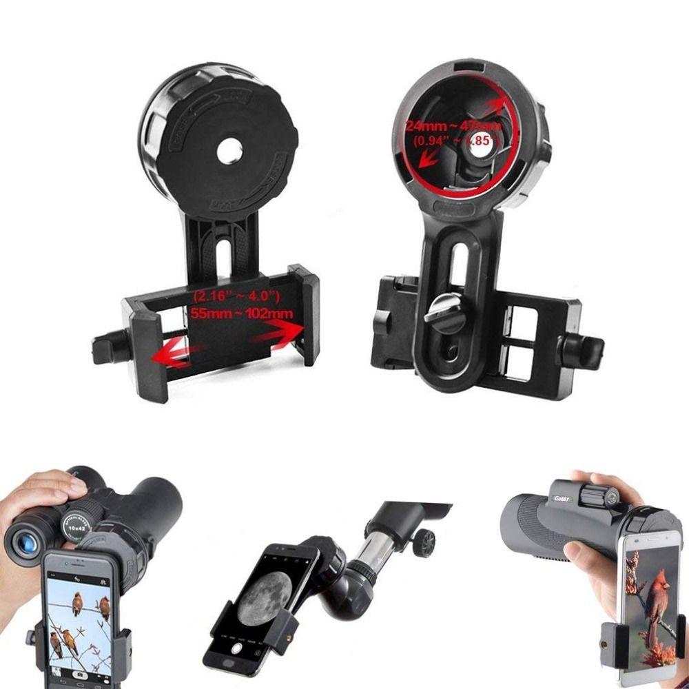 Universel téléphone Rapide Photographie Stand support de montage Connecteur pour iPhone Télescope Jumelles Monoculaire Microscope