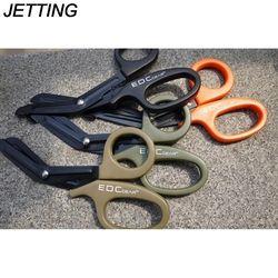 Jetting 1 Pcs 18 Cm Serbaguna Stainless Steel Perban Gunting Outdoor Perjalanan Penyelamatan Gunting Merekam Medis Gunting