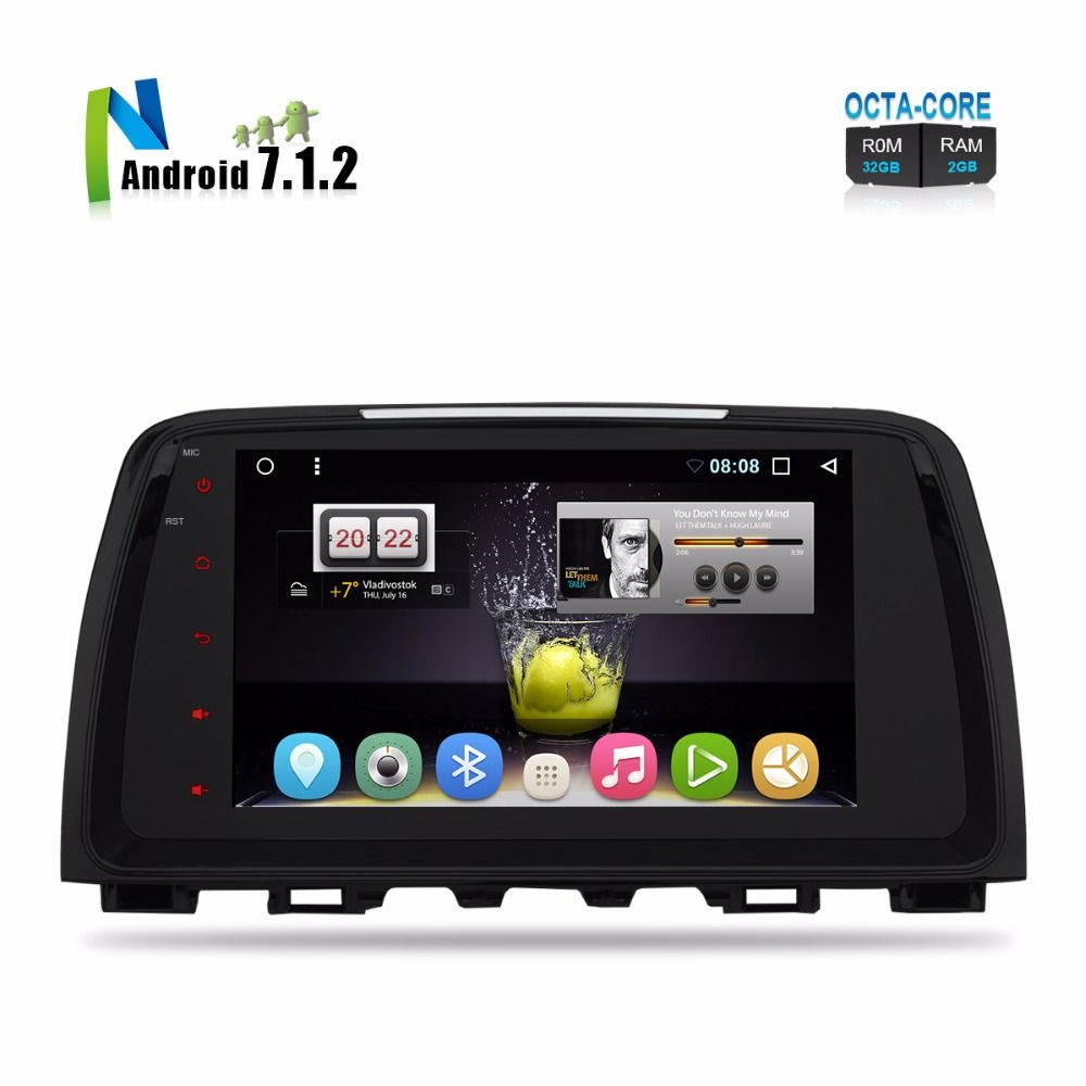 2018 Brand New Android Car Stereo For Mazda 6 Atenza 2013 2014 2015 Auto PC Radio Pad Audio Video GPS Glonass Navigation No DVD