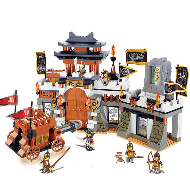 Models building toy 0266 Chinese Three Kingdoms Large Castle Scene 610pcs Building Blocks compatible with lego toys & hobbies