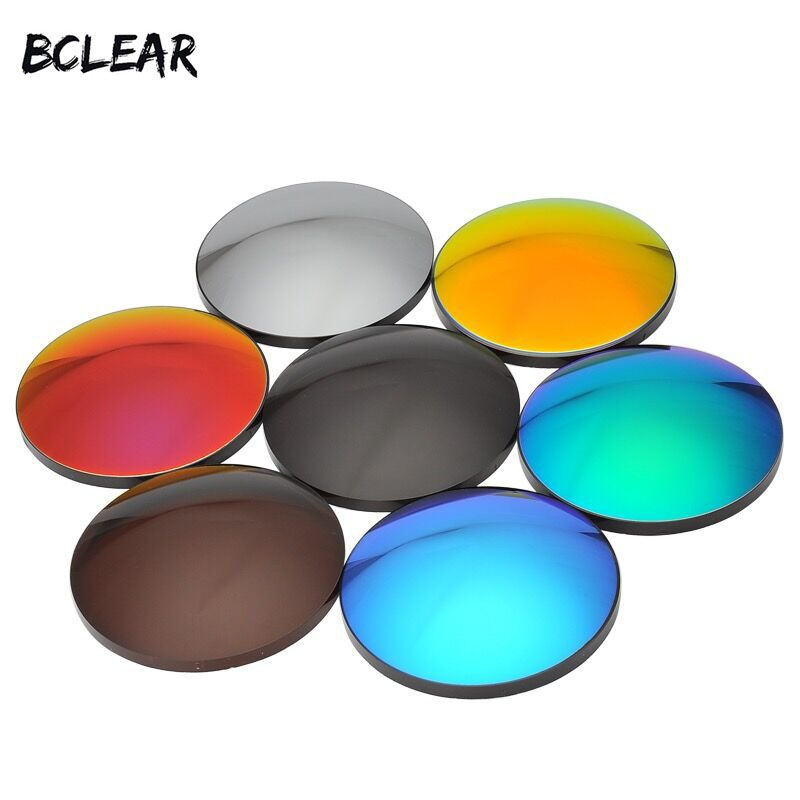 BCLEAR 1.61 Fashion Colorful Polarized UV400 Mirror Reflective Sunglasses Prescription Lenses Driving Myopia Sunglasses