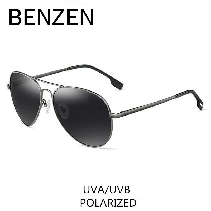 BENZEN Polarized Sunglasses Men Brand Designer Pilot Male Sun <font><b>Glasses</b></font> For Driving Vintage Eyewear Shades With Case 9091