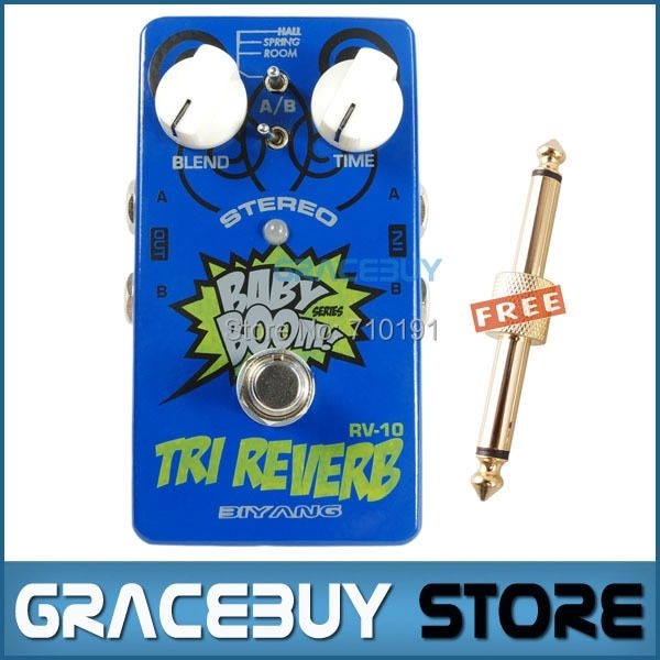 Baby Boom Effects Biyang RV-10 3 Mode Tri Reverb Reverb Stereo True Bypass Electric Guitar Pedal Musical Instrument 350 B