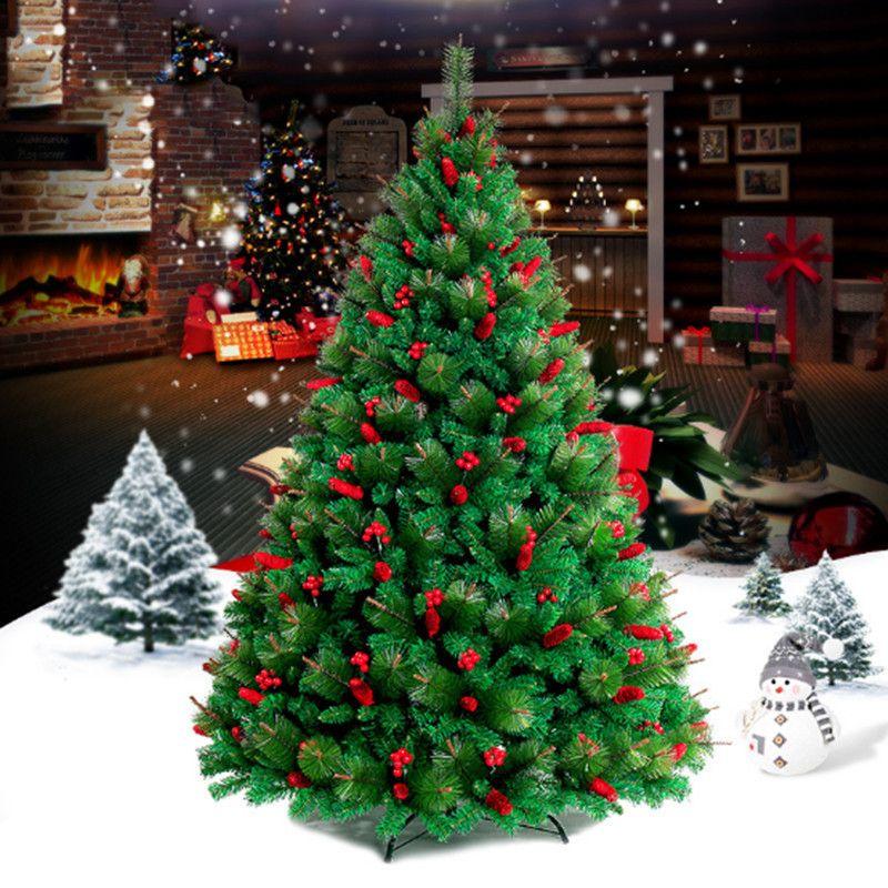 1.5M/1.8M/2.1M/ pine needles encryption red Christmas tree family hotel shopping malls Christmas decoration supplies