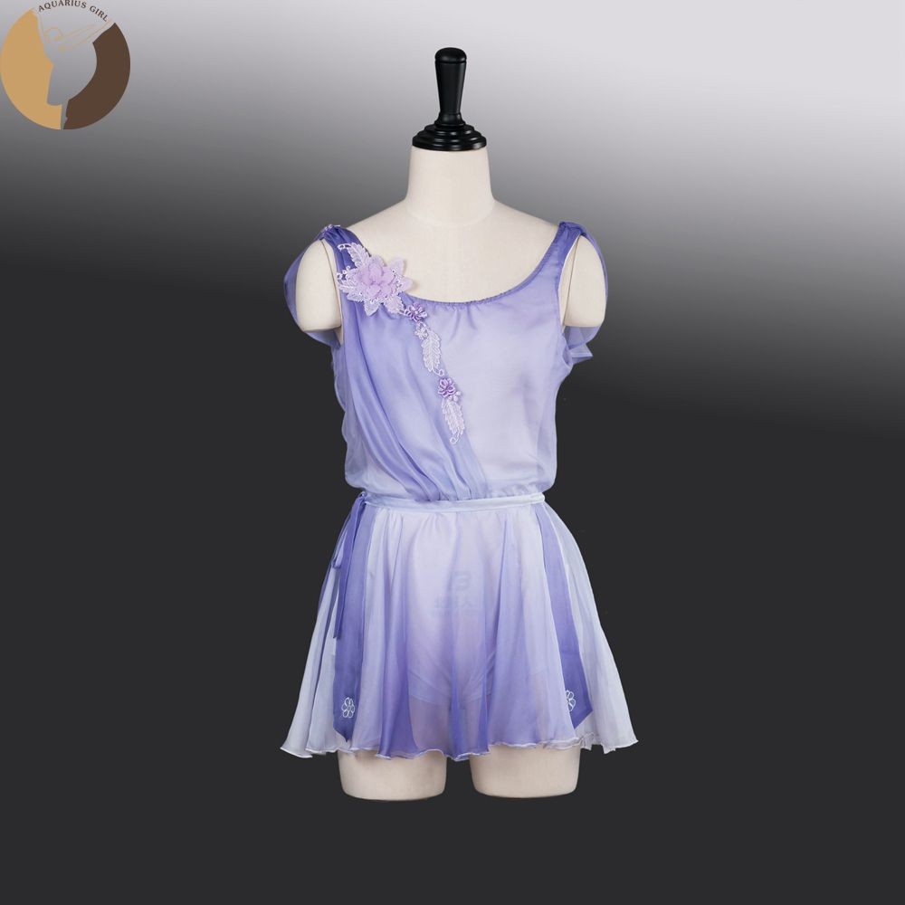 Fltoture AT1271 Cupid Costumes 5 Colors Chiffon Skirt Ballet Competiton Clothes Girls Short Skirts Child Size Fairy Stage Wear