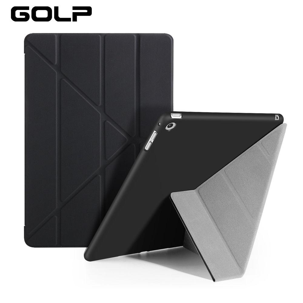 Pour ipad Air Case, GOLP PC Flip étui pour ipad 5 + TPU couverture arrière pour ipad Air 1 étui pour tablette, couverture intelligente et support