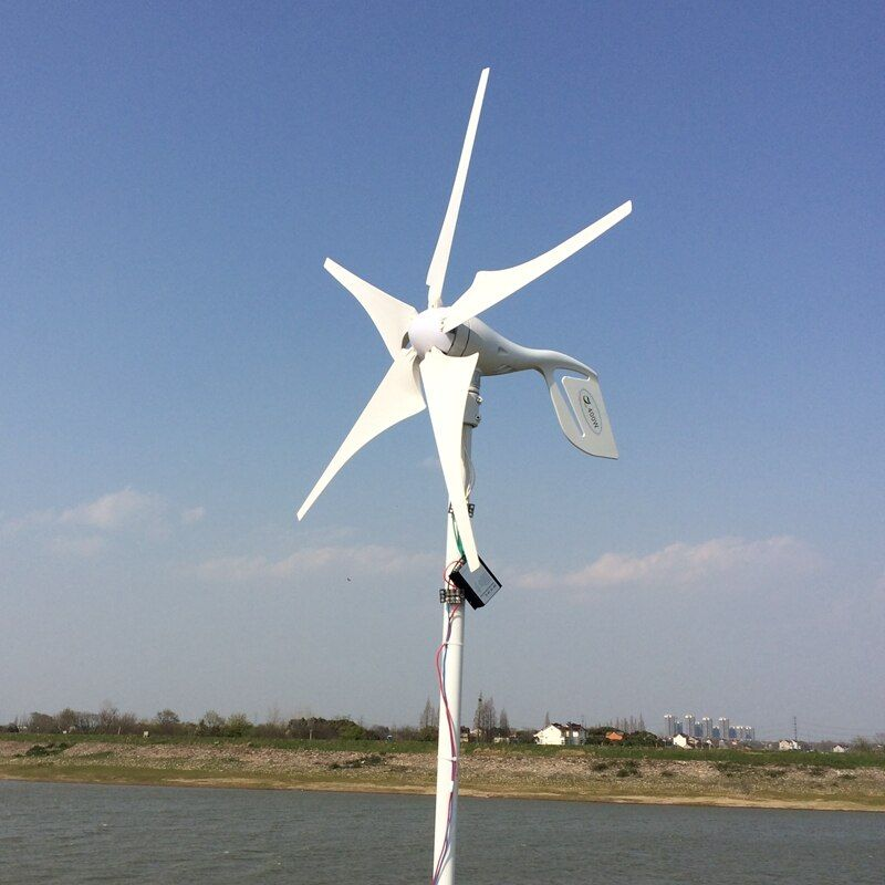 5 Blades 400W 12-24V Wind Turbine Generator With Waterproof Charge Controller Household Use Wind Generator Kits
