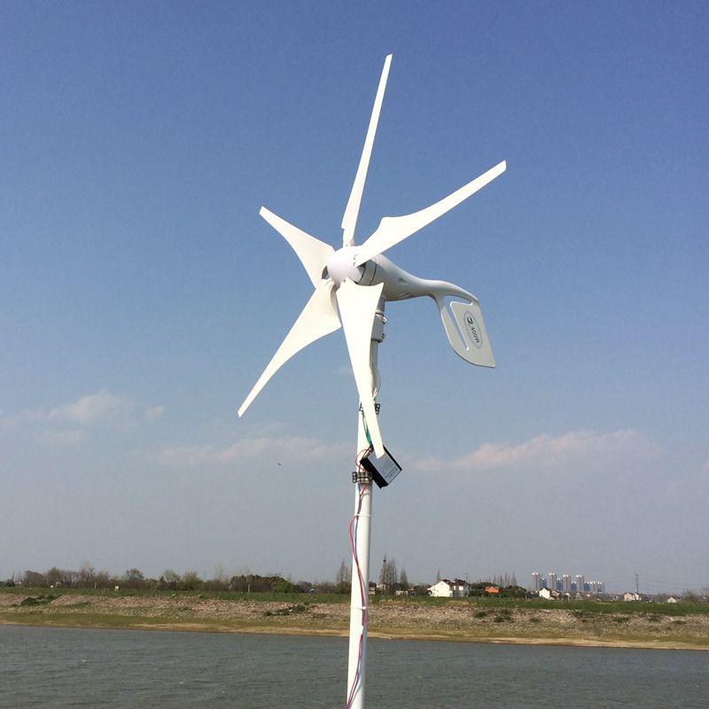 5 Klingen 400 Watt 12-24 V Wind Turbine Generator Mit Wasserdichte Solarladeregler Haushalt Gebrauch Windgenerator Kits