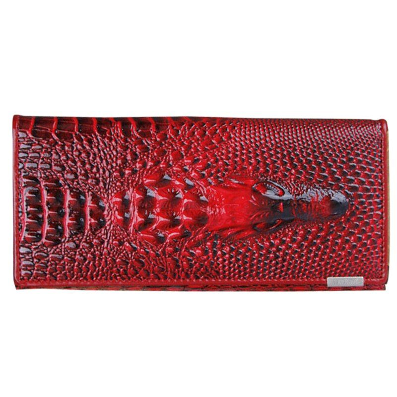 Genuine Leather 3D Embossing Alligator Ladies Crocodile Long Clutch Wallets Women Wallet Female Coin Purses Holders Brand