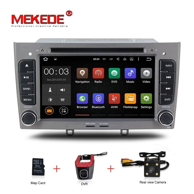 Factory price android 7.1 car dvd radio audio player for Peugeot 308 408 with GPS Navigation multimedia 4G wifi BT RDS 1024*600
