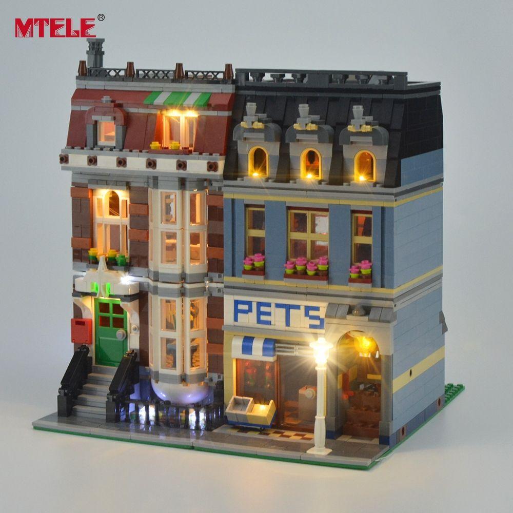 MTELE Marque LED Light Up Kit Pour Pet Shop Supermarché Lumière Ensemble Compatile Avec 10218 Et 15009 (NE PAS Inclure le Modèle)