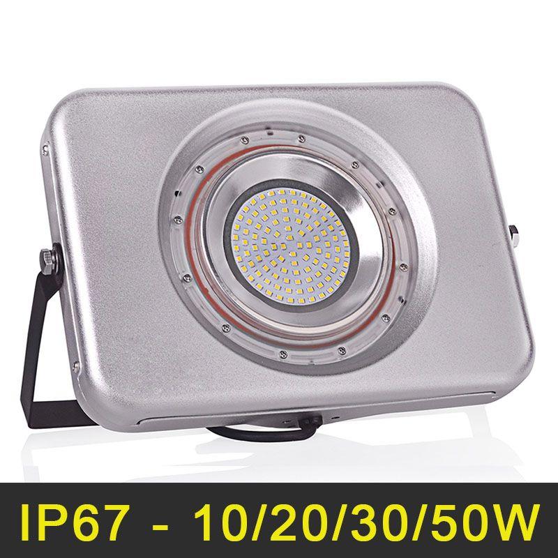 Ultrathin LED Floodlight 220V 240V LED Flood Light 10W 20W 30W 50W Reflector LED Spotlight Outdoor Lighting Waterproof IP67