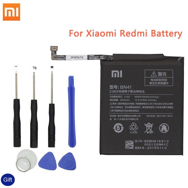 Xiao mi BN41 batterie de téléphone d'origine pour Xiao mi rouge mi Note 4 4X3 Pro 3 S 3X 4X mi 5 BN43 BM22 BM46 BM47 batteries de remplacement