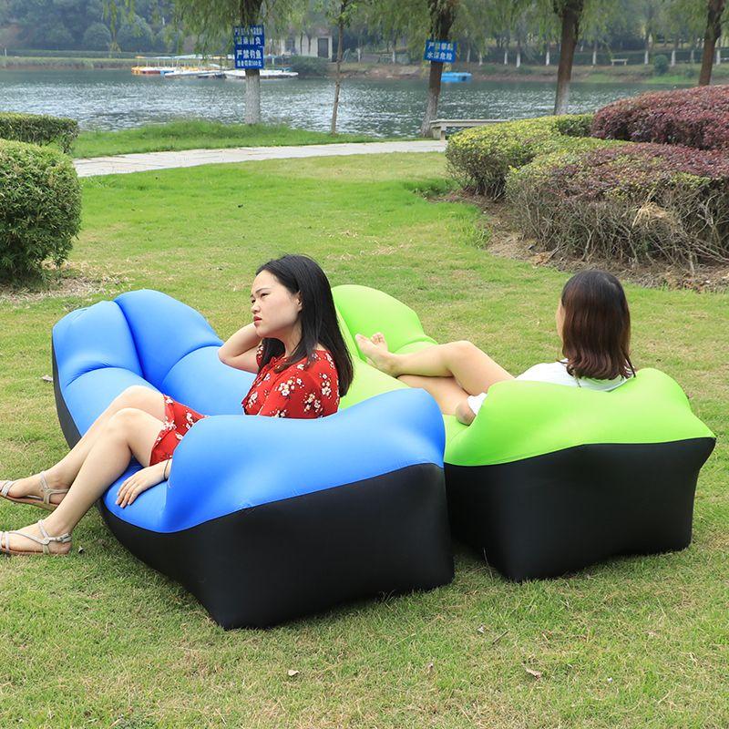 Schnell aufblasbare faul bag air sofa nylon ultraleicht legen beutel banane bett aufblasbare lounge für camping strand bett laybag
