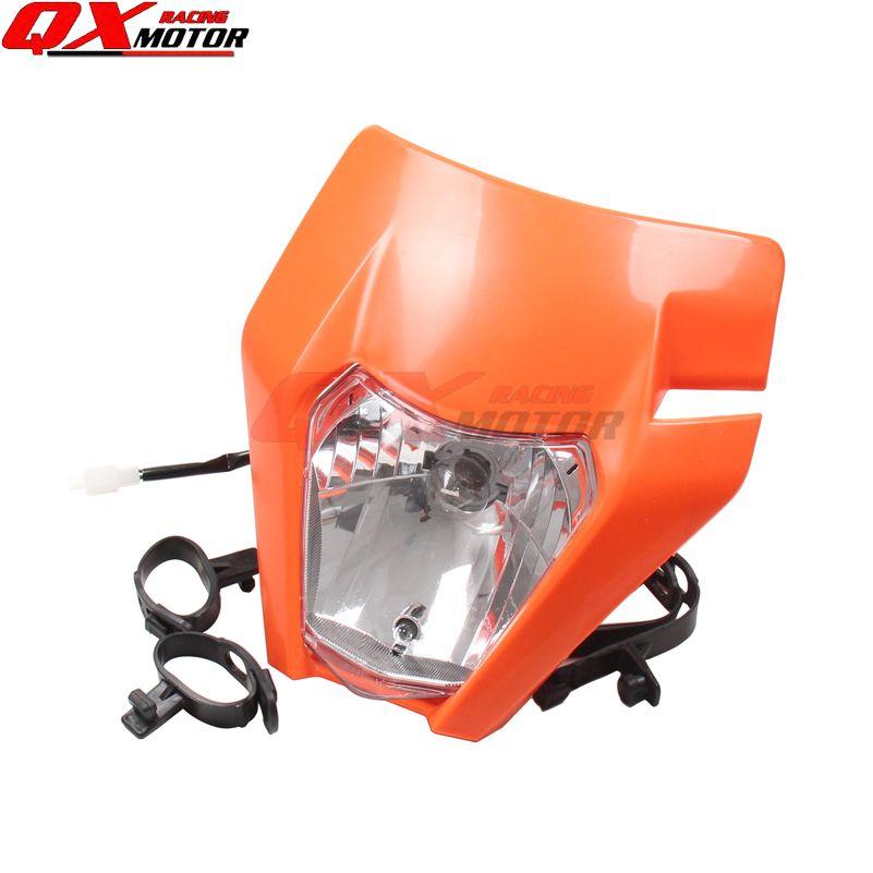 New Motorcycle Dirt Bike Motocross Universal Headlight For 2017 KTM SX SX-F EXC EXC-F Headlamp