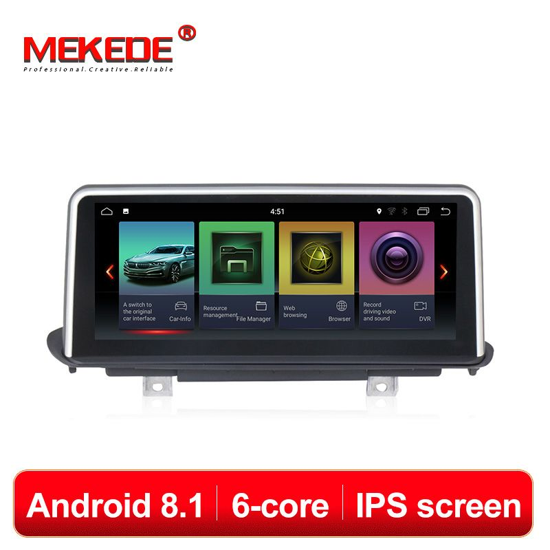 MEKEDE 6 Core Android 8.1 10,25 ''IPS screen Auto Multimedia-Player DVD GPS Navigation Für BMW X5 F15 2014- 2017 NBT system 4G Lte