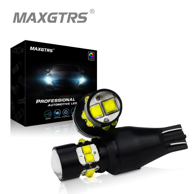 2x High Power T15 W16W 921 912 50W CREE Chip XB-D Car LED Reverse Light Backup Lamp Tail Rear Parking Lights White 12V/24V