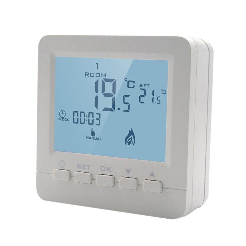 Contrôleur de température de chauffage de chaudière à gaz LCD Thermostat Programmable hebdomadaire numérique thermorégulateur mural avec rétro-éclairage