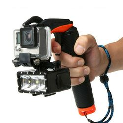 For Gopro Accessories 2 in 1 Shutter Pistol Trigger Floating Handle Grip Stick For Gopro Hero 4 3+ Xiaomi Yi Self-stick Diving
