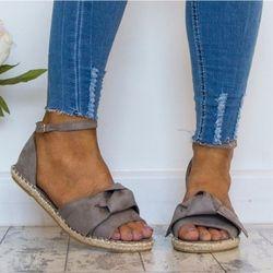 Mujeres más tamaño 35-44 pisos sandalias para mujer 2018 zapatos de verano Peep Toe Casual zapatos de tacón bajo sandalias Mujer negro