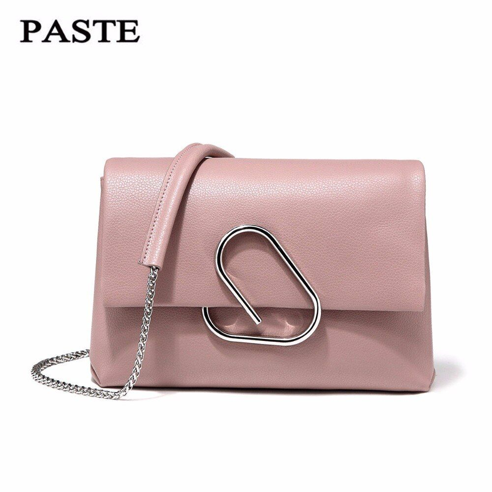 Free Shipping, PASTE Shoulder Bag 100% Soft Genuine Leather OL Style Women's Handbags Ladies Bolso Shoulder Bags small bag