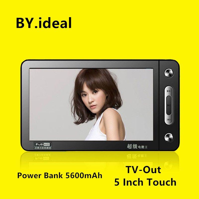 HD Touchscreen MP4 Player 8 gb 5600 mah Power Bank Build-in Lautsprecher 5 zoll MP4 Musik TV heraus MP5 Video Player mit 30 sprachen