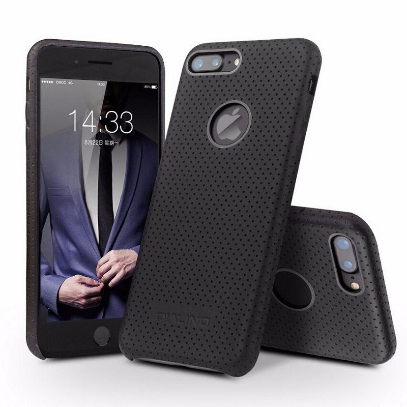 QIALINO Cas pour iPhone 7 Mode Ultra Mince Véritable En Cuir Téléphone couverture pour l'iphone 7 plus Nouveau Luxe De Cas De Dos pour 4.7/5.5 pouces