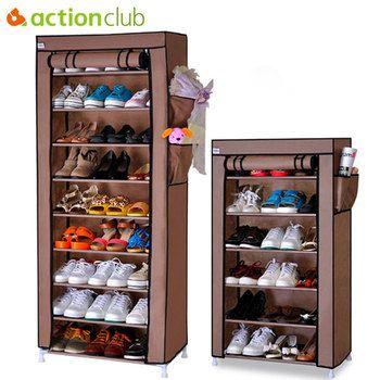 Actionclub толстый нетканый пылезащитный шкаф для обуви DIY сборка для хранения обуви стойка для обуви полочки-органайзеры 10 слоев 7 слоев