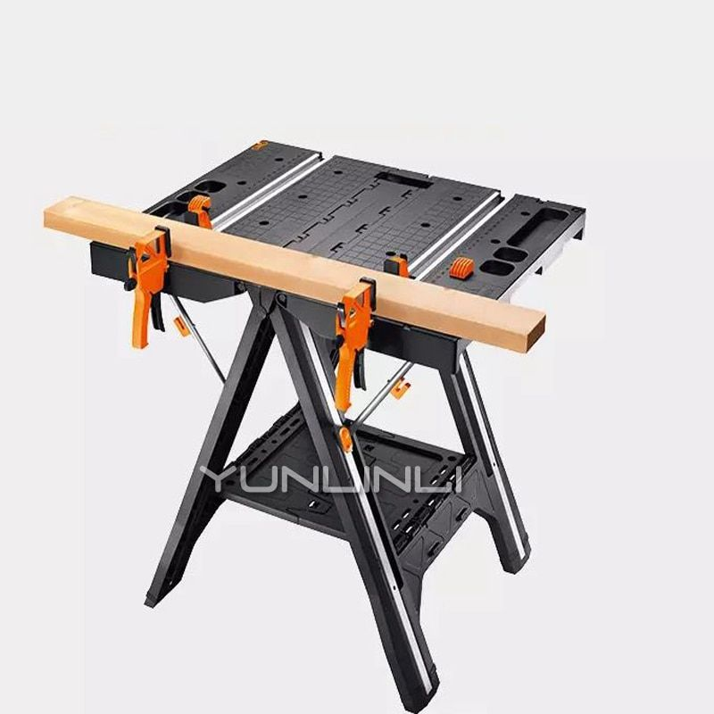 Klapp Holzbearbeitung Sah Tabelle DIY Tragbare Multi-funktion Arbeitstisch Mit Schnell Klemmen Halten Pegs Zimmerei Konsole WX051