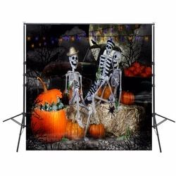 Pumpkin Photography Backdrops Halloween Backdrop For Photography Skeleton Background For Photo Studio Party Foto Achtergrond