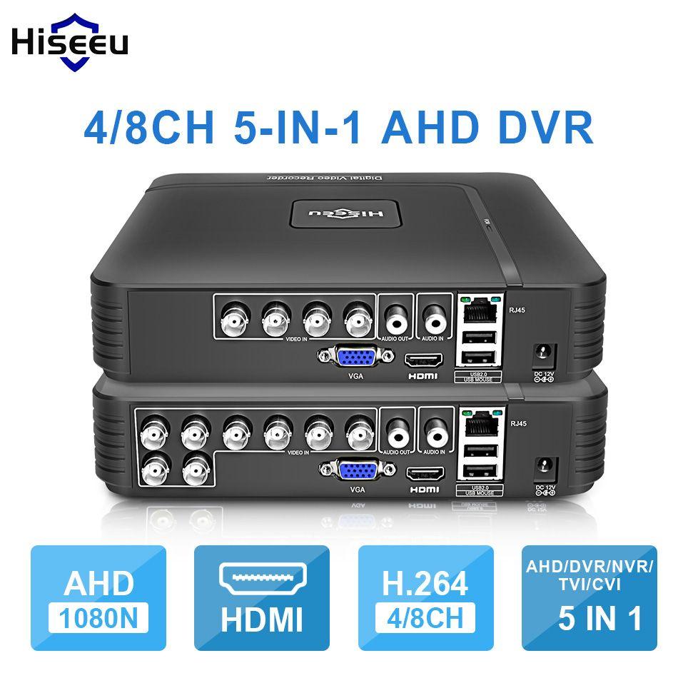 AHD 1080N 4CH 8CH CCTV DVR Mini DVR 5IN1 pour Kit de vidéosurveillance VGA HDMI système de sécurité Mini NVR pour caméra IP 1080P Onvif DVR PTZ H.264