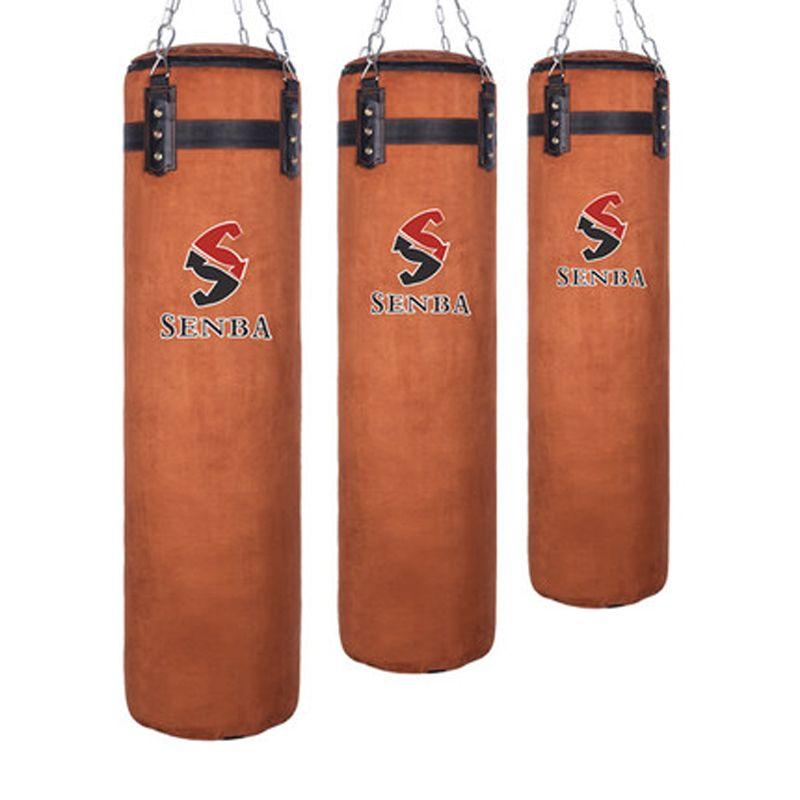 120cm Cowhide Kick Boxing Punching Bag Sandbag For Adult MMA Muay Thai Taekwondo Sport Fitness Training Exercise Equipment boxe