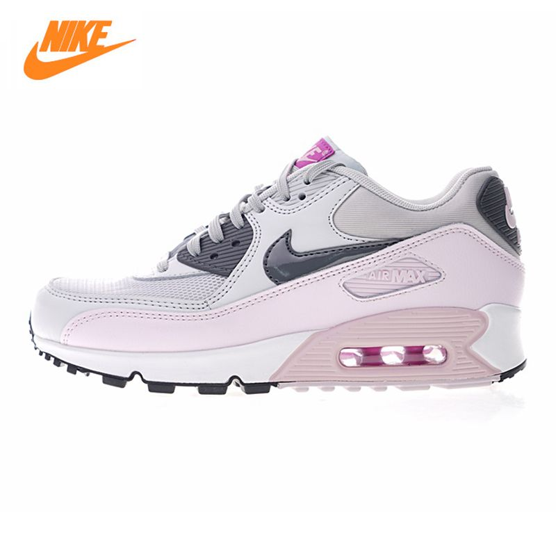 Nike Air Max 90 Women's Running Shoes,Outdoor Sneakers Shoes, Pink, Abrasion Resistant Shock Absorption Breathable 616730 112