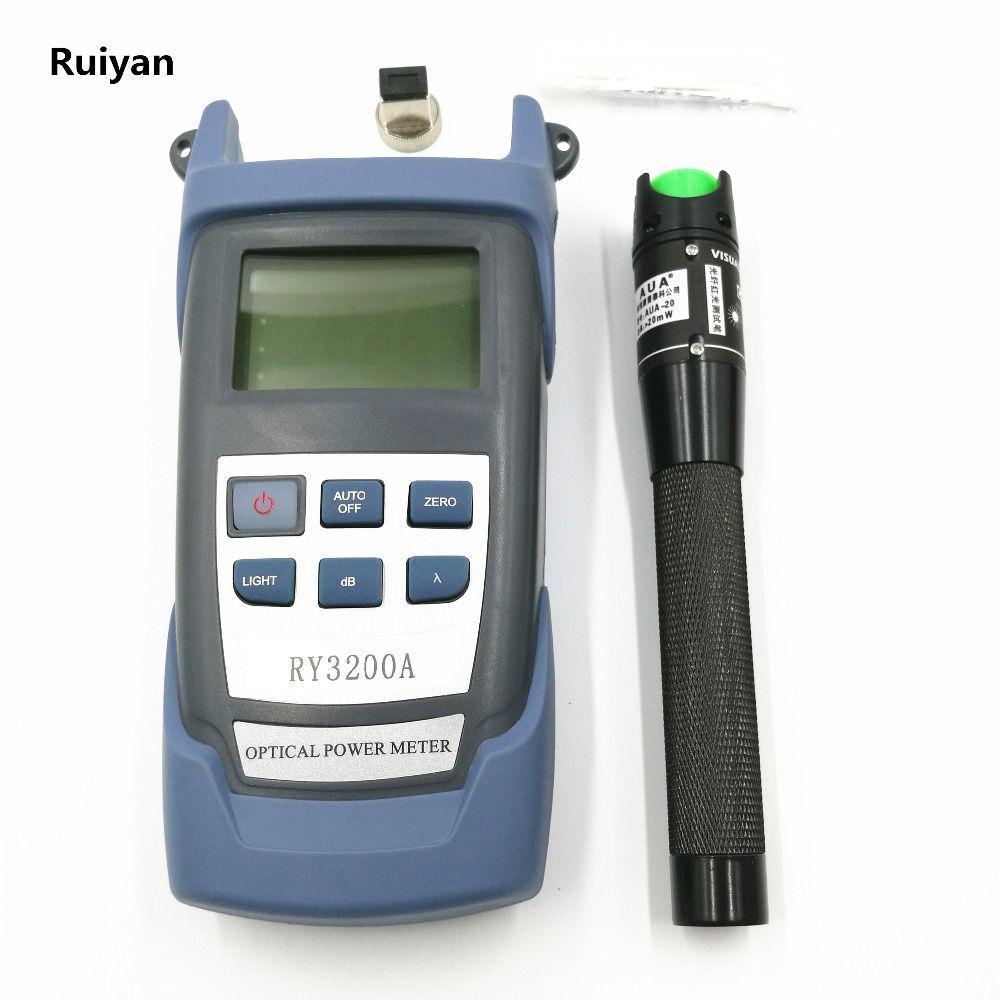 Compteur de puissance optique de poignée optique de la Fiber RY3200A-70 ~ + 10 dBm et 20 km 20 mW testeur visuel de Laser de câble de Fiber optique de localisateur de défaut