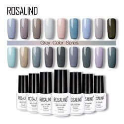 Rosalind Gray Colors 7ML gel lacquer White Bottle Soak Off gel varnish Long-Lasting UV/LED Nail Art Beauty gel nail polish