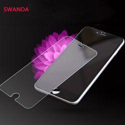En Verre trempé pour iPhone 5 5S se 6 Plus 9 H Dur 2.5D écran Protecteur SUR iPhone 6 6 s 6 7 Plus 4 4S Nettoyage Cas de protection