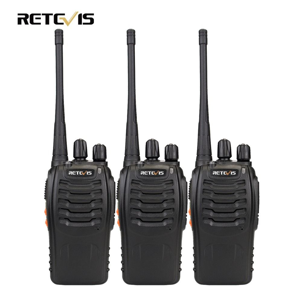 3 pcs Talkie Walkie Retevis H777 16CH UHF 400-470 MHz Ham Radio HF Émetteur-Récepteur 2 Voies Radio Communicateur Handy A9104