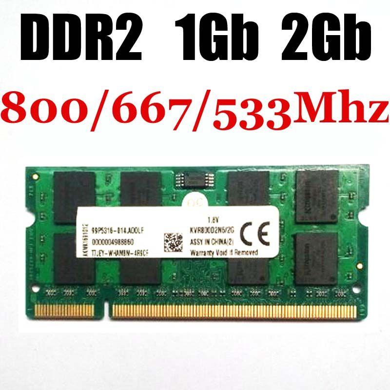 Ordinateur portable sodimm RAM 1 Gb mémoire DDR2 1 Gb 2 Gb 533 Mhz 667 Mhz 800 Mhz-garantie à vie-bonne qualité